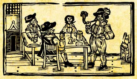 The Pickpockets' Ballad: In the tavern woodcut