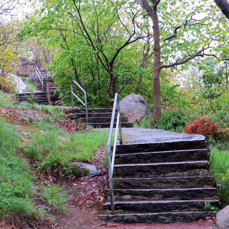 Stone steps climbing the west side of Ramberget