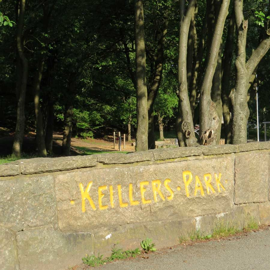 Keillers Park - the children's' playground is just behind