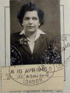 Deborah Jimack: Identity card photo from 1946