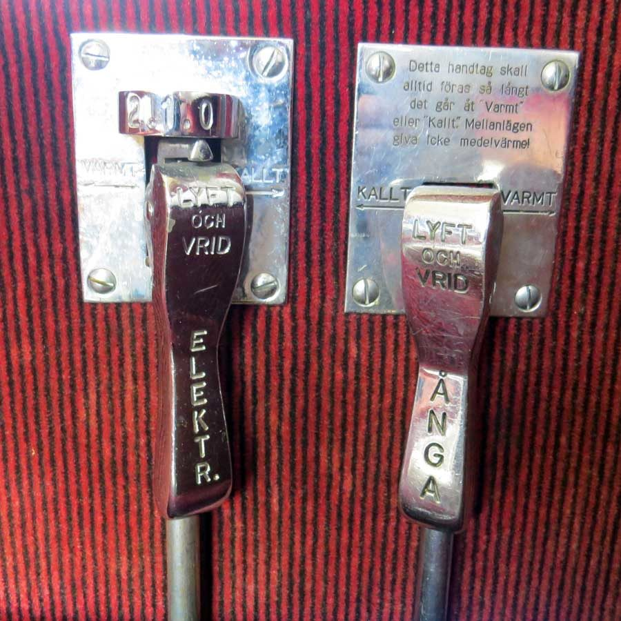 Heritage rail: compartment heating controls