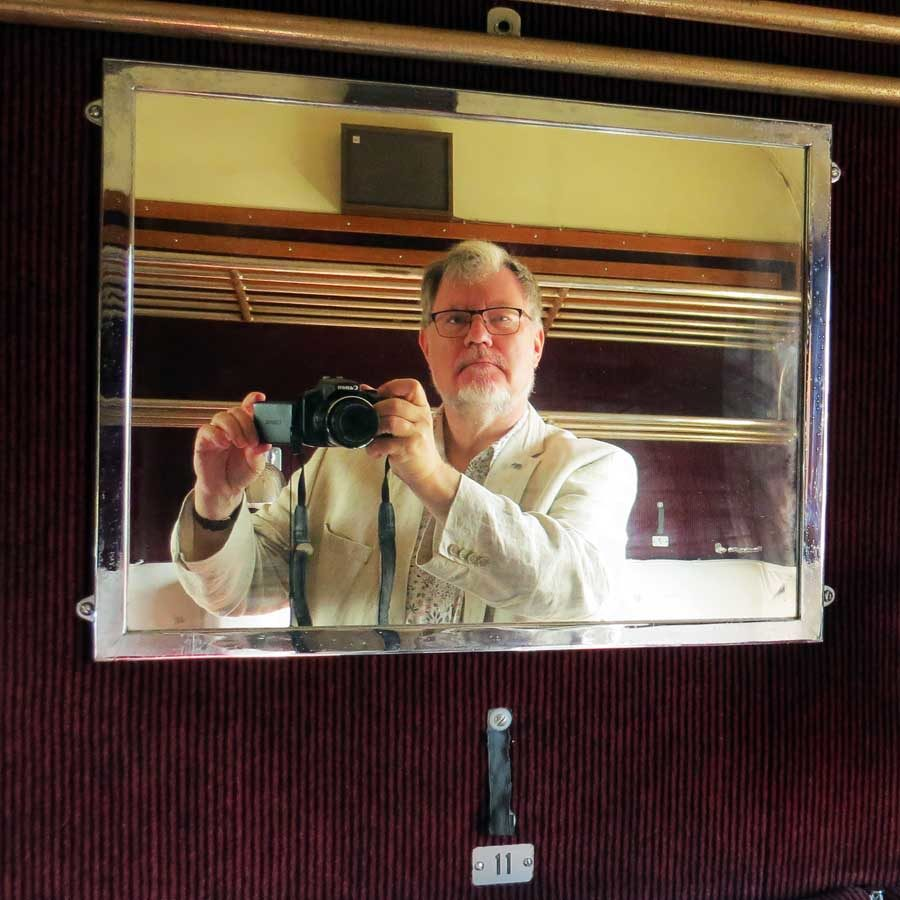 Mirror shot selfie