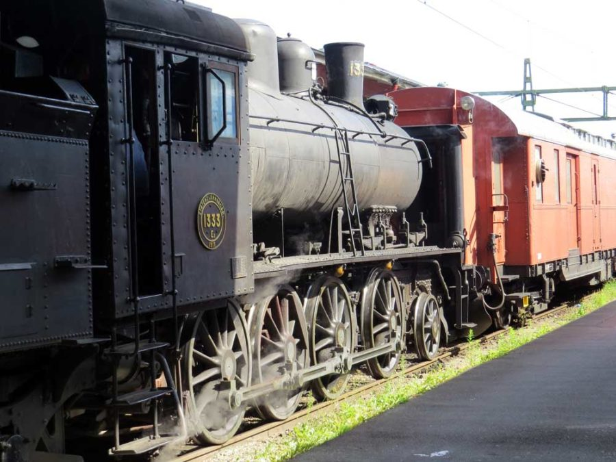 Heritage rail: Locomotive E2 1333 at the end of the trip
