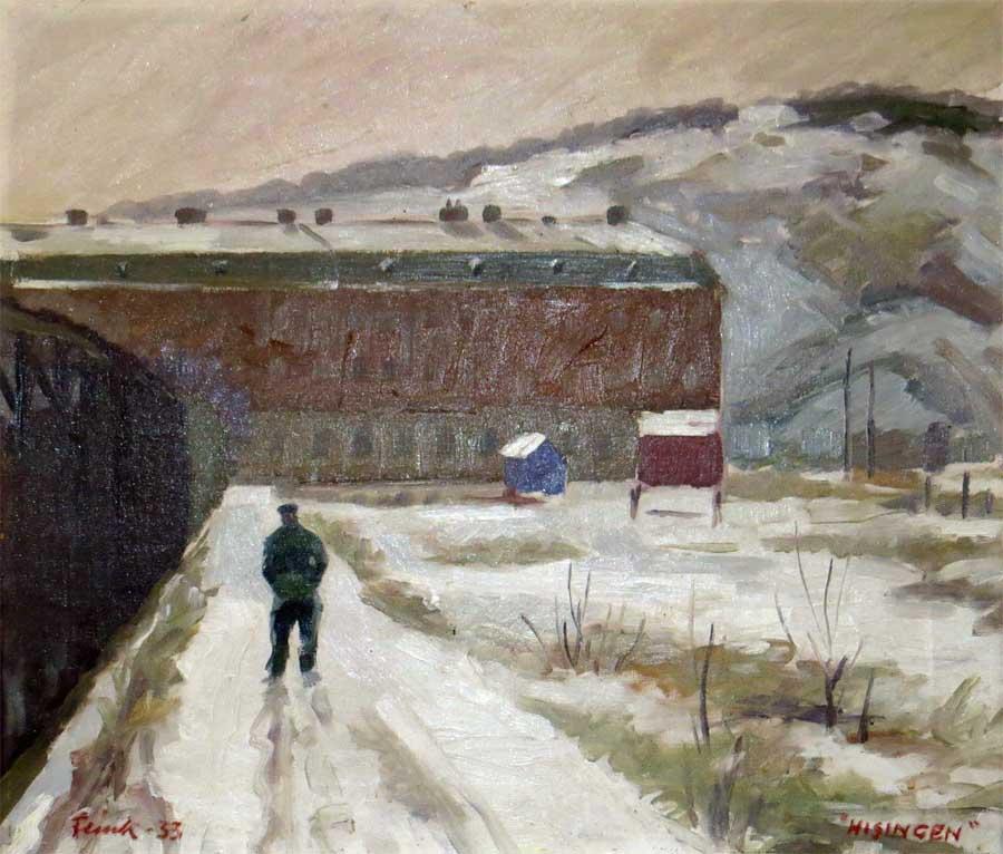Another sort of impression - Hisingen  by Rudolf Flink (1933) - painting from Konst Café at Klippan