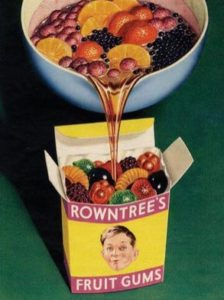 Monkey trauma: 1950s advert for box of Rowntree's Fruit Gums