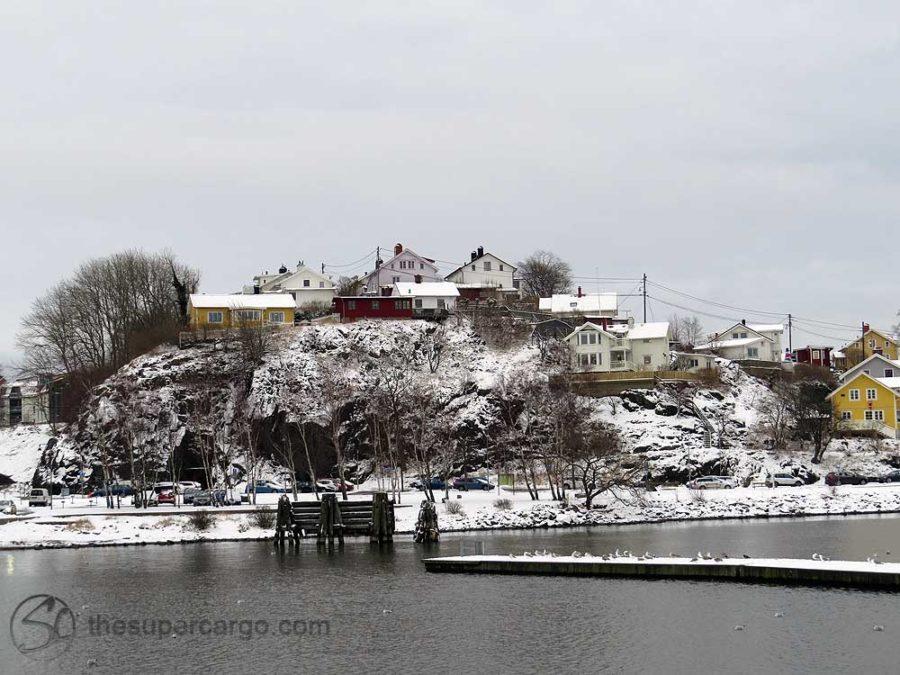 Snowfall: Lindholmen under snow
