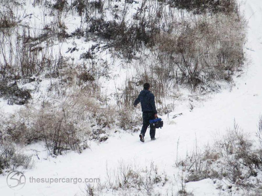 Snowfall: Walking in the snow