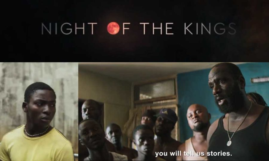 """Collage of images from Night of the Kings trailer. Title, Roman, Blackbeard: """"you will tell us stories"""""""