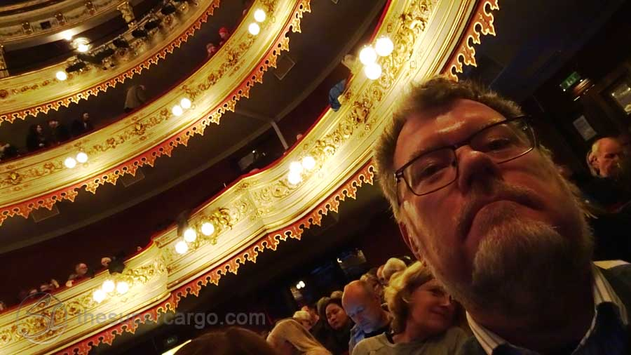 Selfie waiting to see Mrs Hyde (French language SF/Horror film as I recall) showing at Stora Teatern - formerly Gothenburg's Opera House during the 2018 Gothenburg Film Festival.