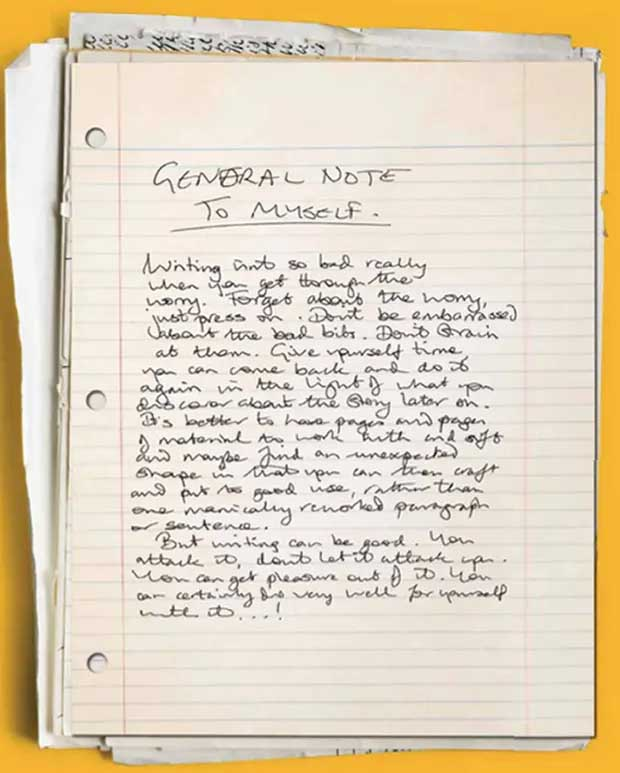 Douglas Adams' General Note To Myself - reproduced from The Guardian article linked in the text