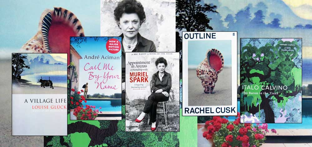 A Mediterranean quintet: cover images from the five principle books of this reading diary entry