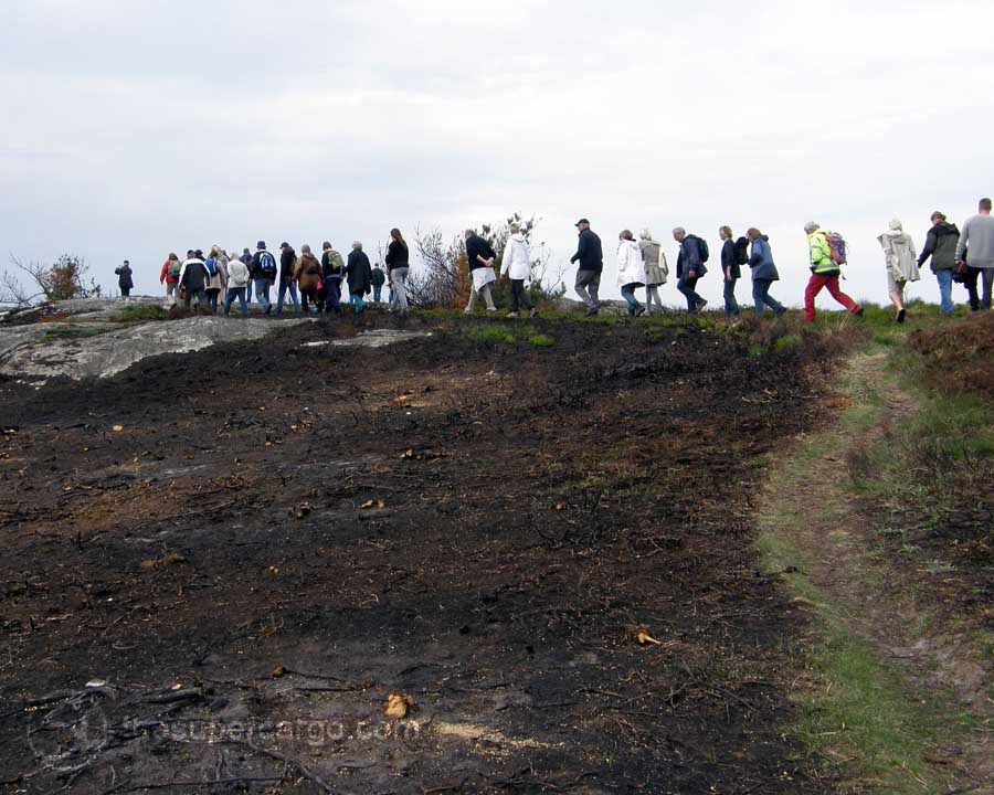 Spring back: Walking the burned land - Rörö May 2012