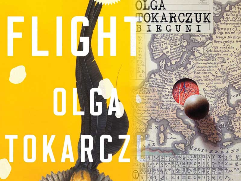 In Flight: The covers of my edition of Flights and a Polish edition of Bieguni