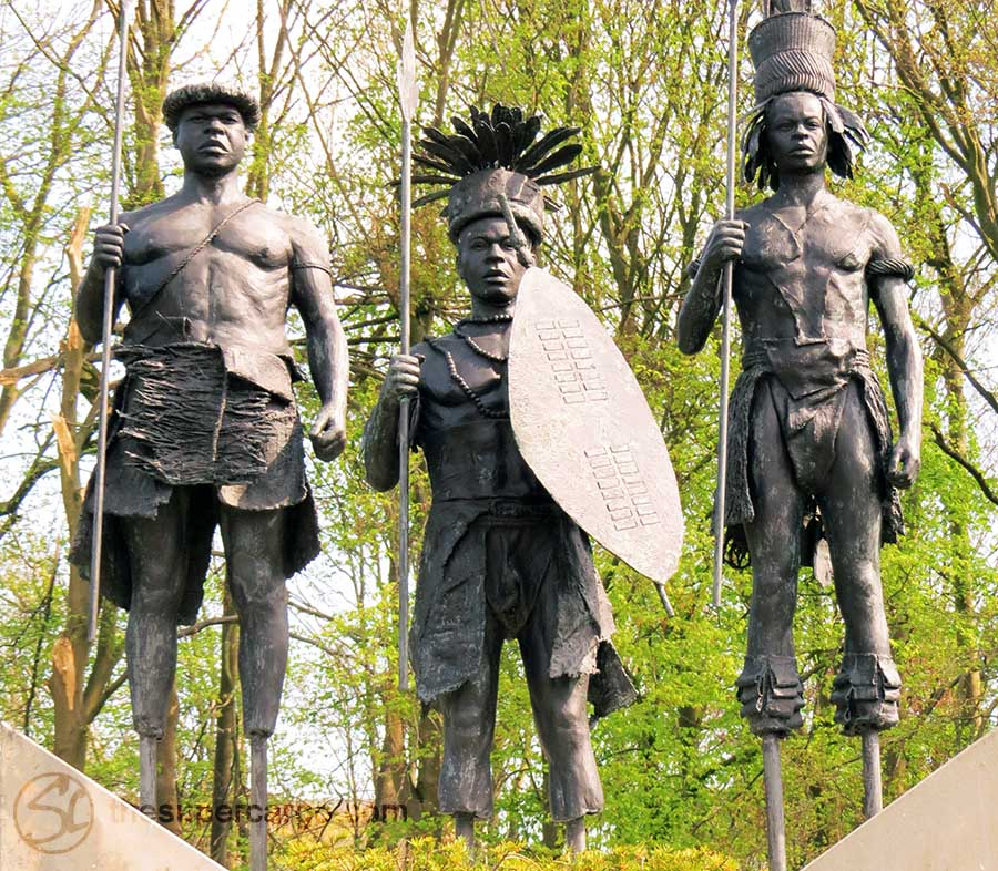 Congo warriors in the European imagination. Absent feet.