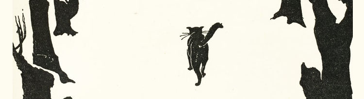 Clio as The Cat That Walked by Himself - illustration from Rudyard Kipling's Just So Stories